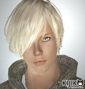 sim3 hair Verte (for Male) Flipped version シムズ3 髪型 Verte (for Male) 反転版