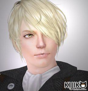 こちら通常版です。・・・ほんとに反転しただけです(汗) sim3 hair Verte (for Male) シムズ3 髪型 Verte (for Male)