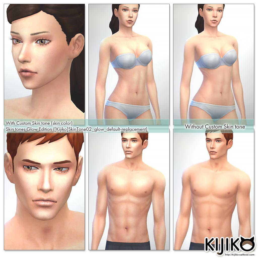 Sims4 Skin Overlay , Non-Default Skin シムズ4 スキンオーバーレイ 非デフォルト スキン