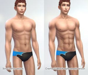 muscular effects of the skin overlay are weaker than my skin textures overhaul (default replacement).