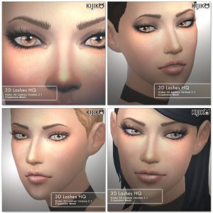 3D Lashes for the Sims4 / Long styles HQ シムズ4 3Dまつ毛 HQバージョン