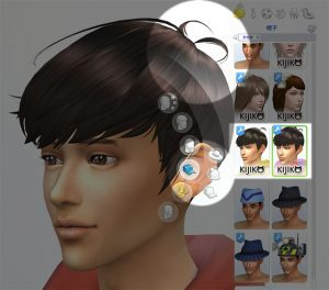 "Include the ""Ahoge"" (accent hairs like Anime characters). You can find them in the Hat category."
