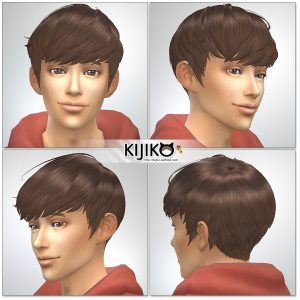 Sims4 hair/ for Male / Masculine Frame シムズ4髪型 詳細