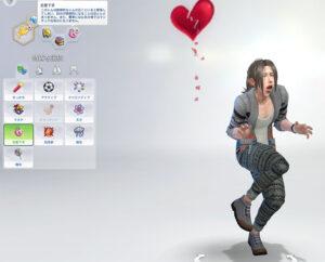 シム作成に関しては、新しく特質が追加されました。こちらは恋愛下手。なんか、ぼえぇ~~って言ってますが…