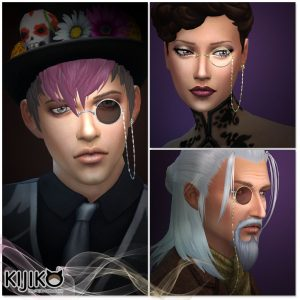 Sims4 monocle details /シムズ4 片眼鏡 詳細