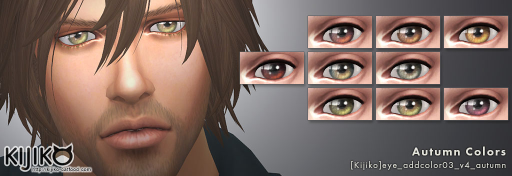 Non-Default Eyecolors for the Sims4  シムズ4 非デフォルトアイカラー