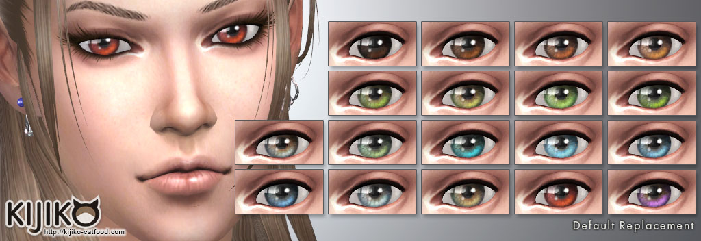 Default Replacement Eyecolors for the Sims4  シムズ4 デフォルト置き換えアイカラー
