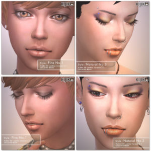3D Lashes for the Sims4 / Uncurled eyelashes シムズ4 3Dまつ毛