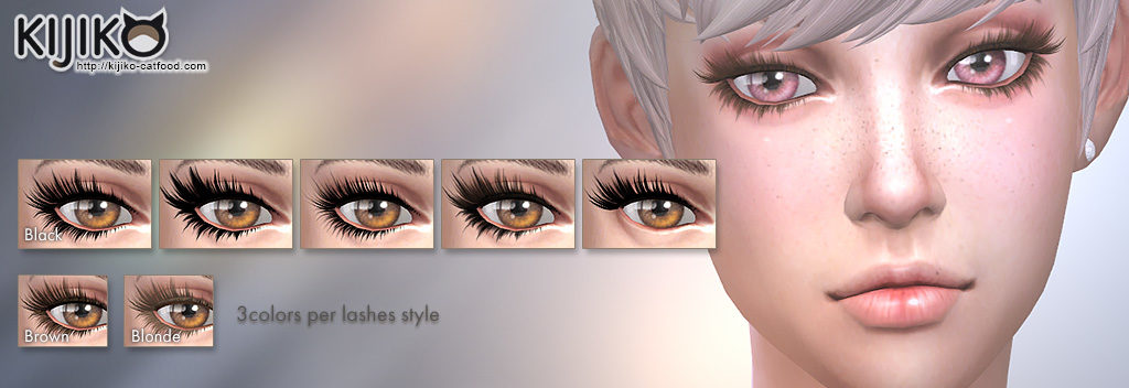 Sims4 Kijiko 3D Lashes Update. Added new eyelashes.