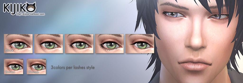 Sims4 Kijiko 3D Lashes Update. Added new eyelashes.